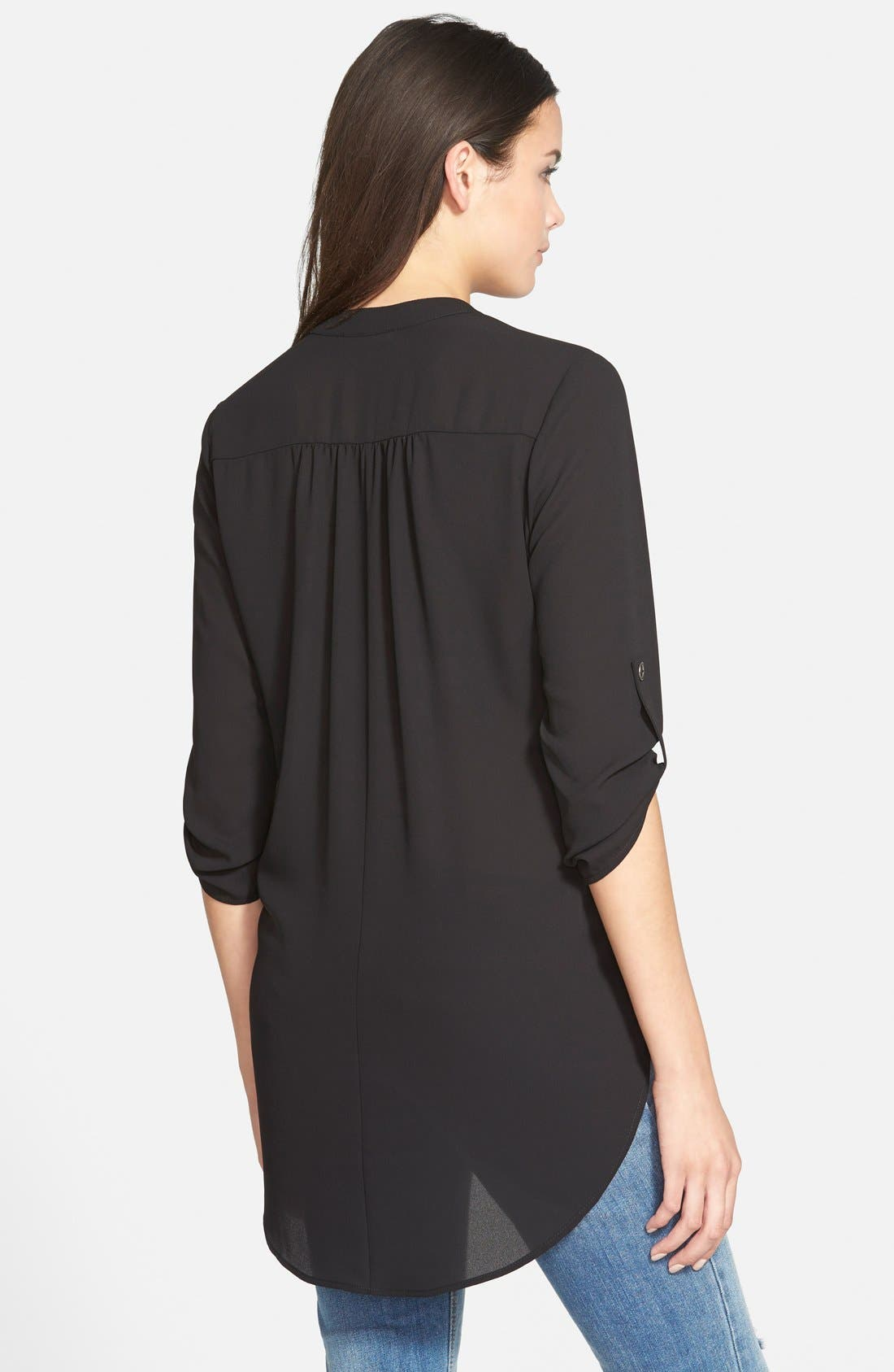,                             Perfect Roll Tab Sleeve Tunic,                             Alternate thumbnail 23, color,                             002