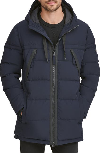 Image of Andrew Marc Holden Water Resistant Down & Feather Fill Quilted Coat
