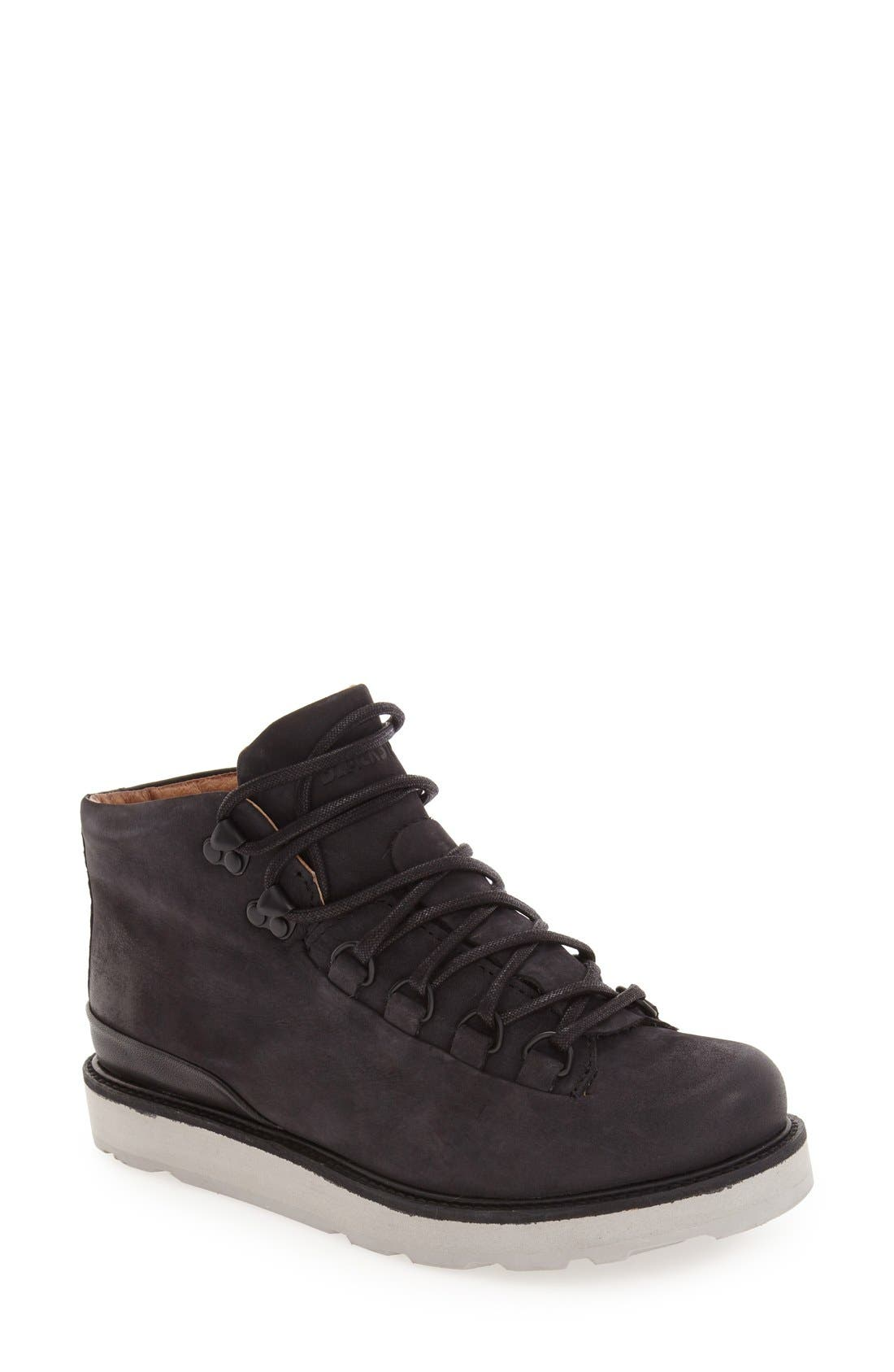 'MW76' Water Resistant Boot, Main, color, BLACK NUBUCK LEATHER