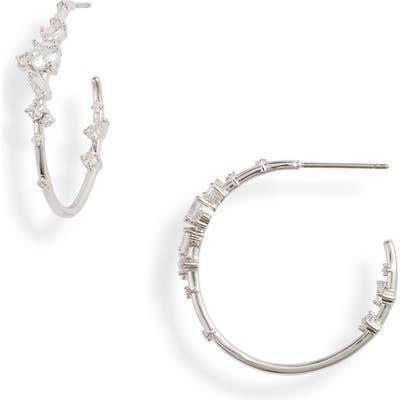 Nordstrom Cubic Zirconia Hoop Earrings