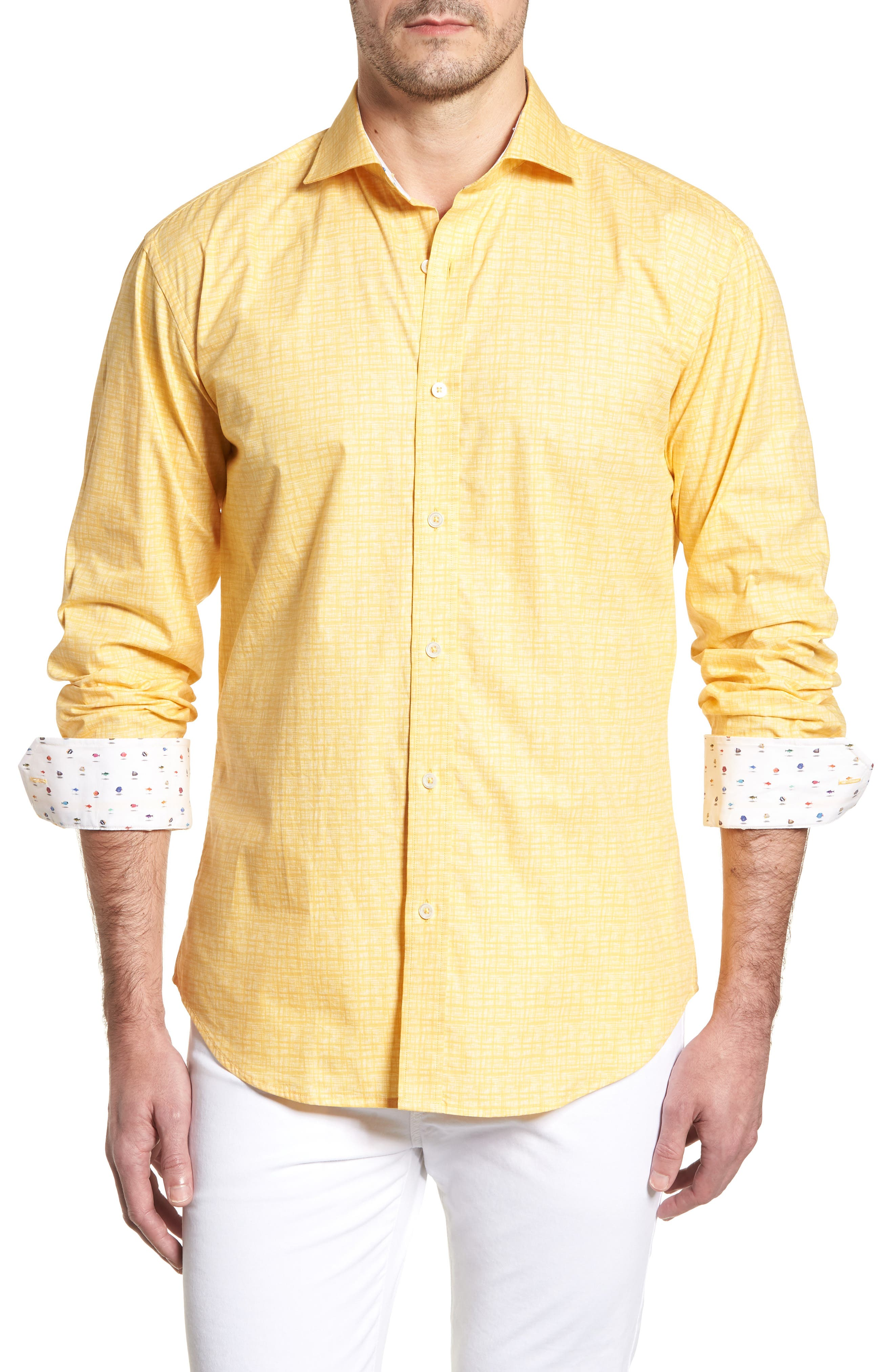 ,                             Shaped Fit Freehand Sport Shirt,                             Main thumbnail 55, color,                             720