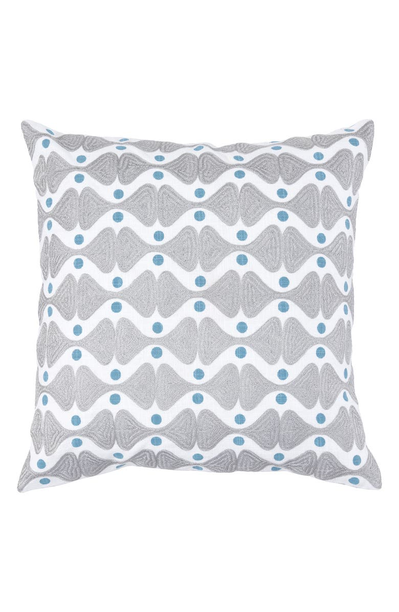 VILLA HOME COLLECTION Ingrid Accent Pillow, Main, color, GREY/ BLUE