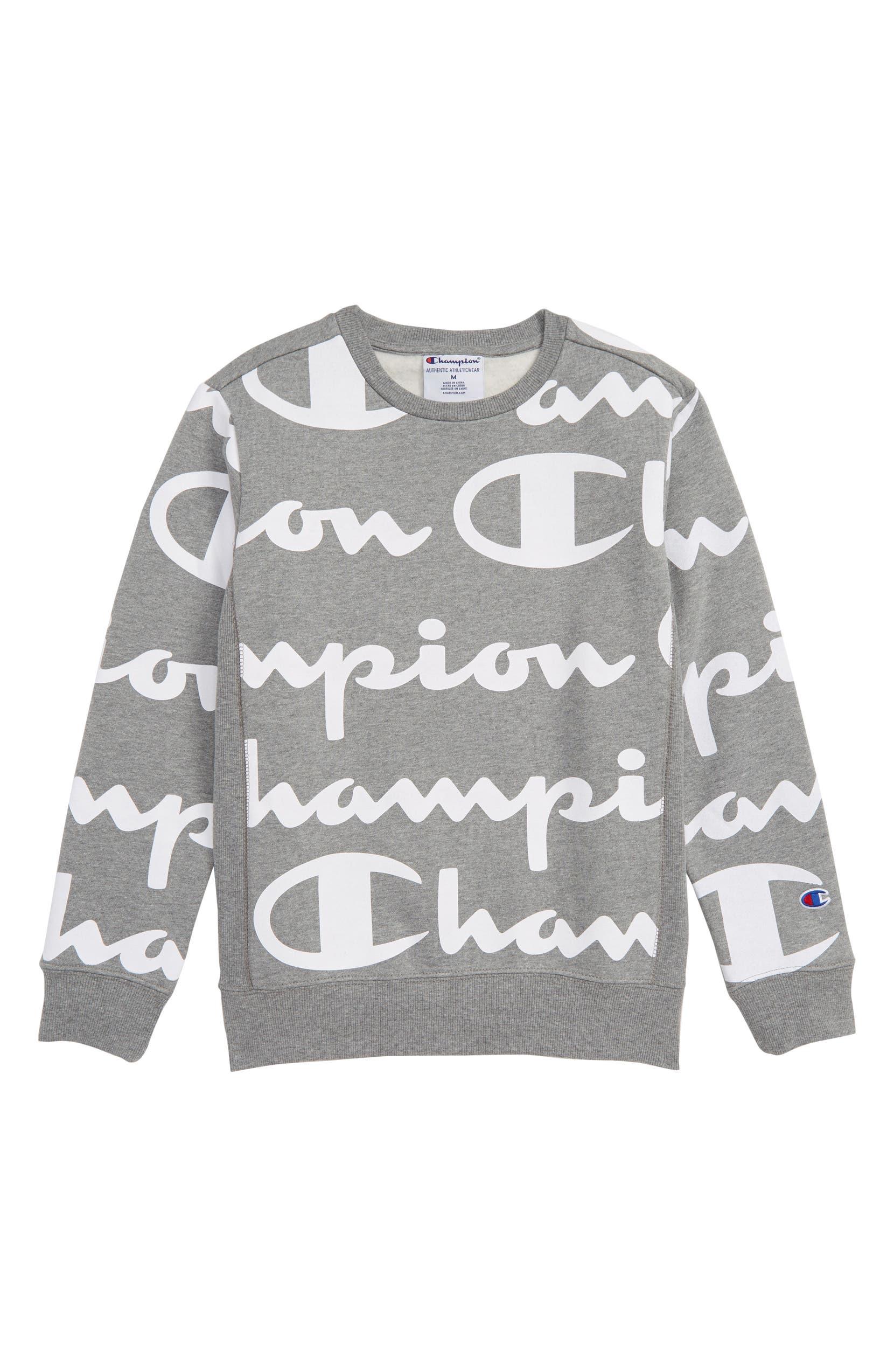 78a8f7387776 Champion Giant Script Sweatshirt (Big Boys) | Nordstrom