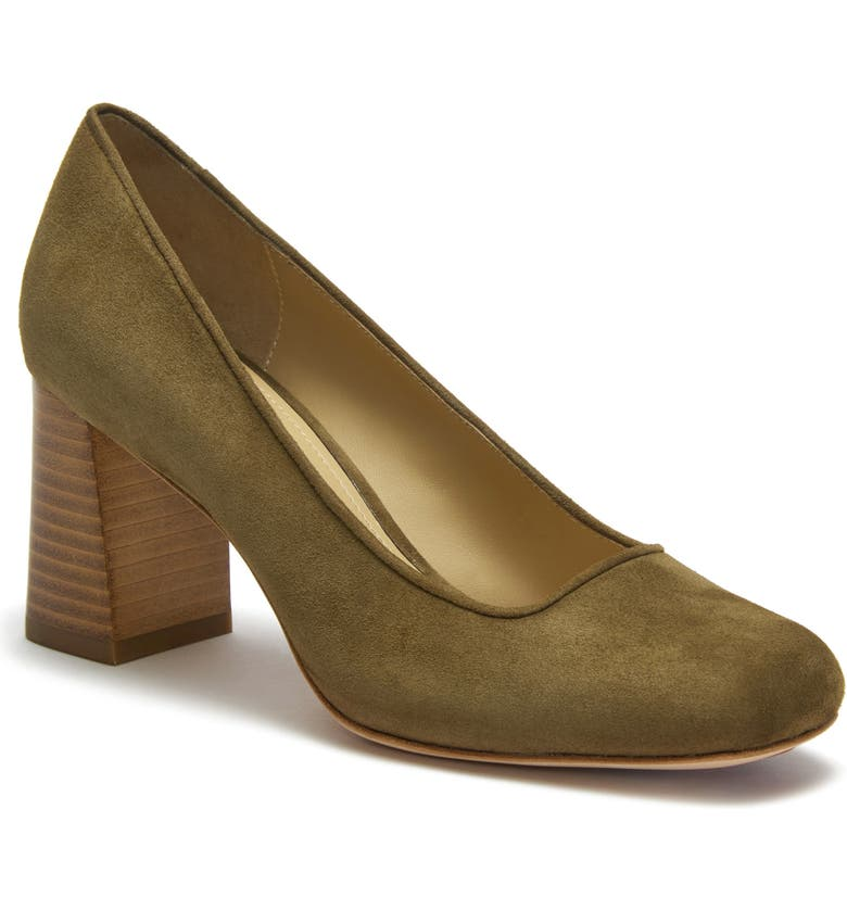 ETIENNE AIGNER Dylan Square Toe Pump, Main, color, MILITARY SUEDE