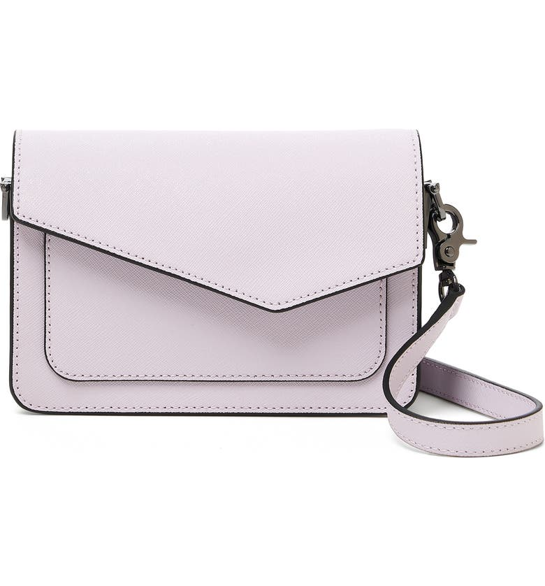 BOTKIER Cobble Hill Mini Leather Convertible Crossbody Bag, Main, color, LAVENDER