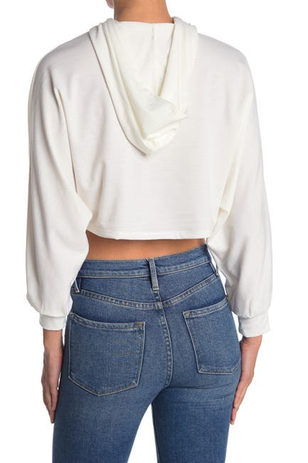 Image of Lush French Terry Boxy Crop Hoodie