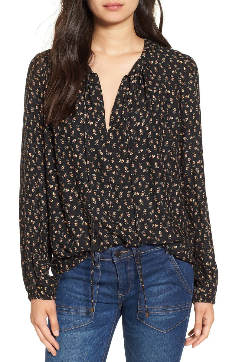 WAYF 'Townsend' Long Sleeve Peasant Top, Main, color, 001