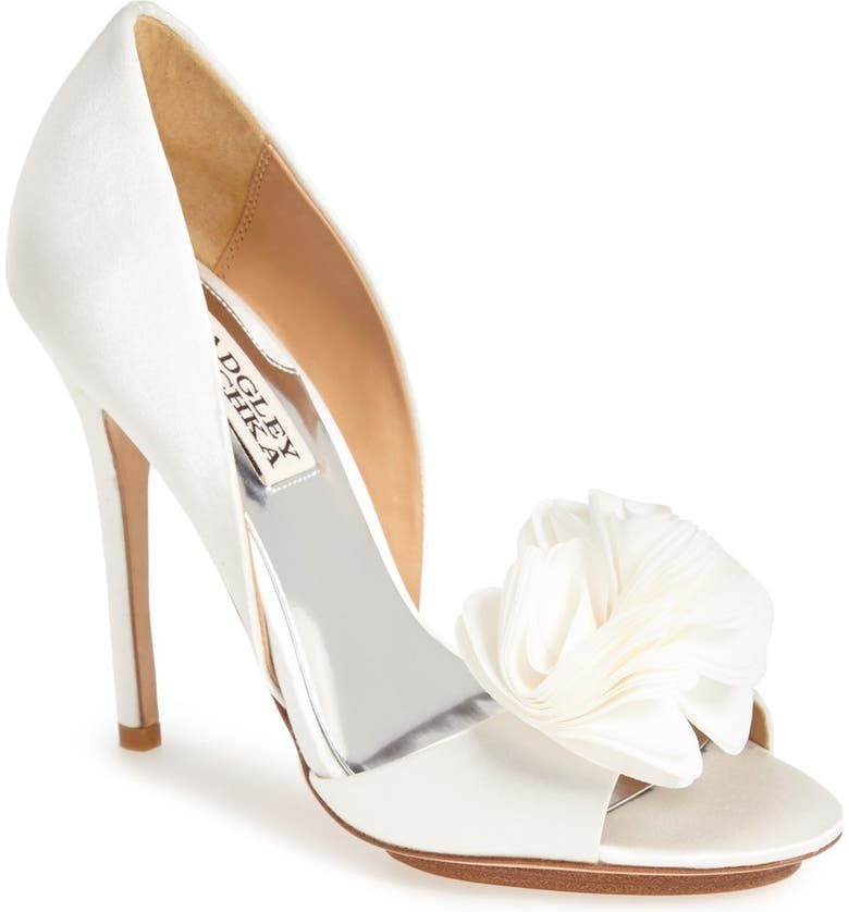 BADGLEY MISCHKA COLLECTION Badgley Mischka 'Blossom' Open Toe d'Orsay Pump, Main, color, 142