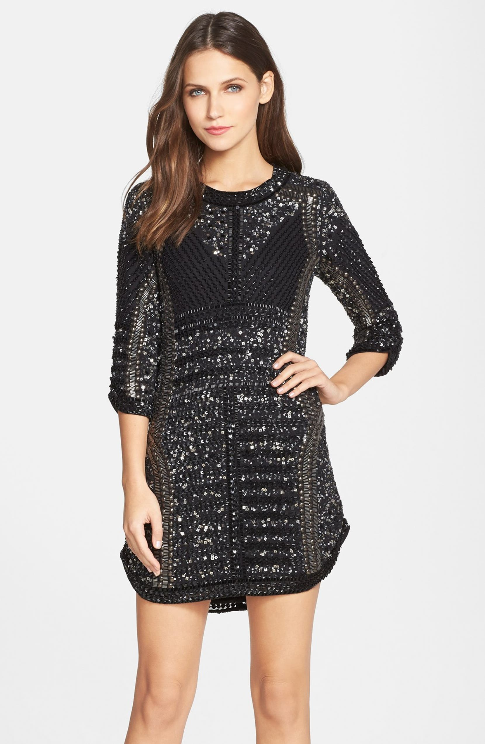 f9495fc87236 Parker 'Petra' Beaded Shift Dress | Nordstrom