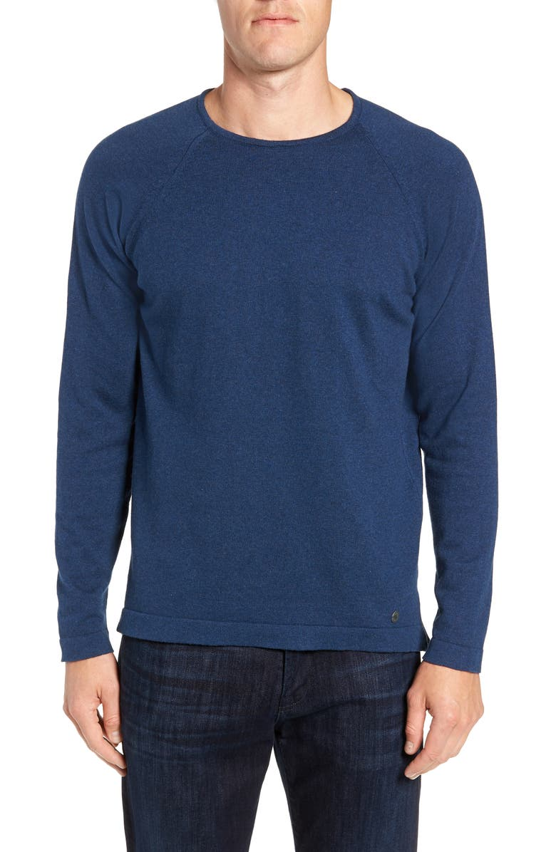 STONE ROSE Trim Fit Crewneck Sweater, Main, color, NAVY