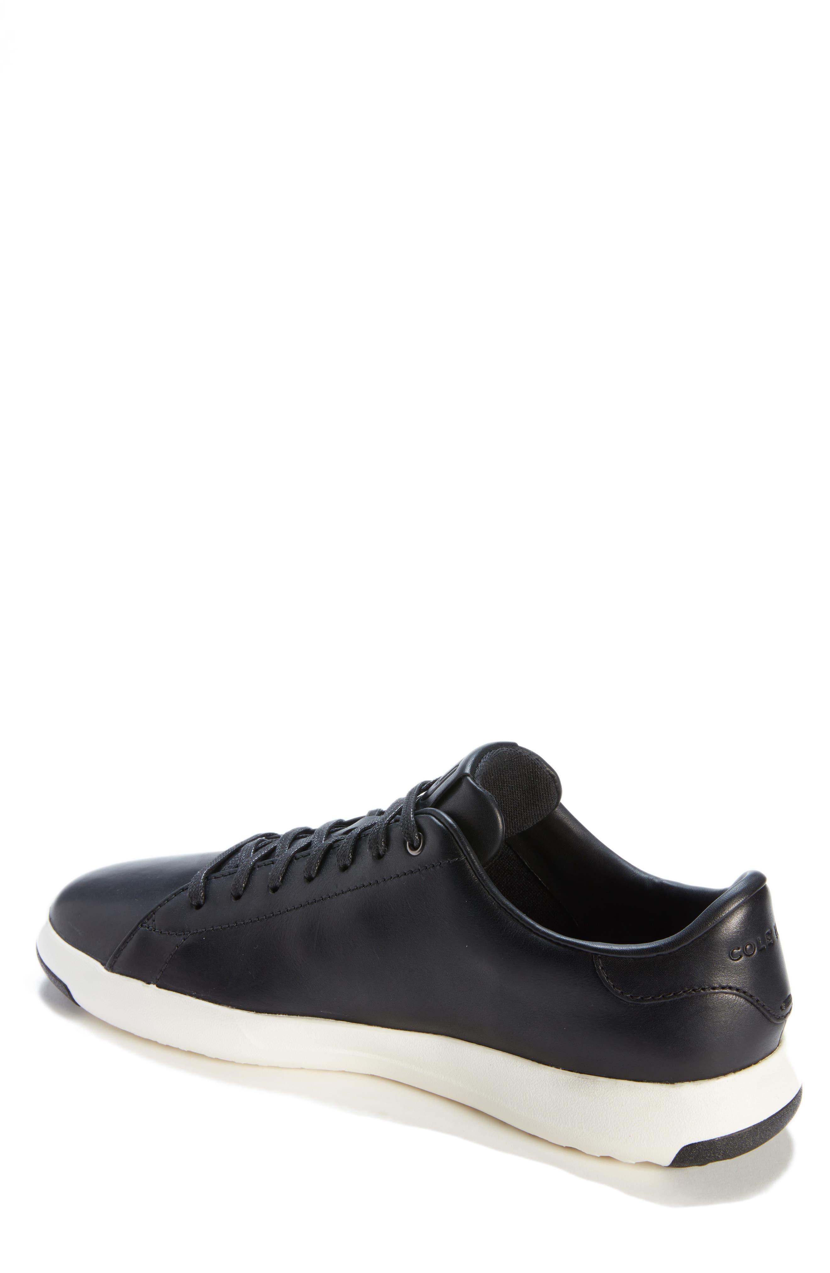,                             GrandPro Tennis Sneaker,                             Alternate thumbnail 2, color,                             BLACK LEATHER