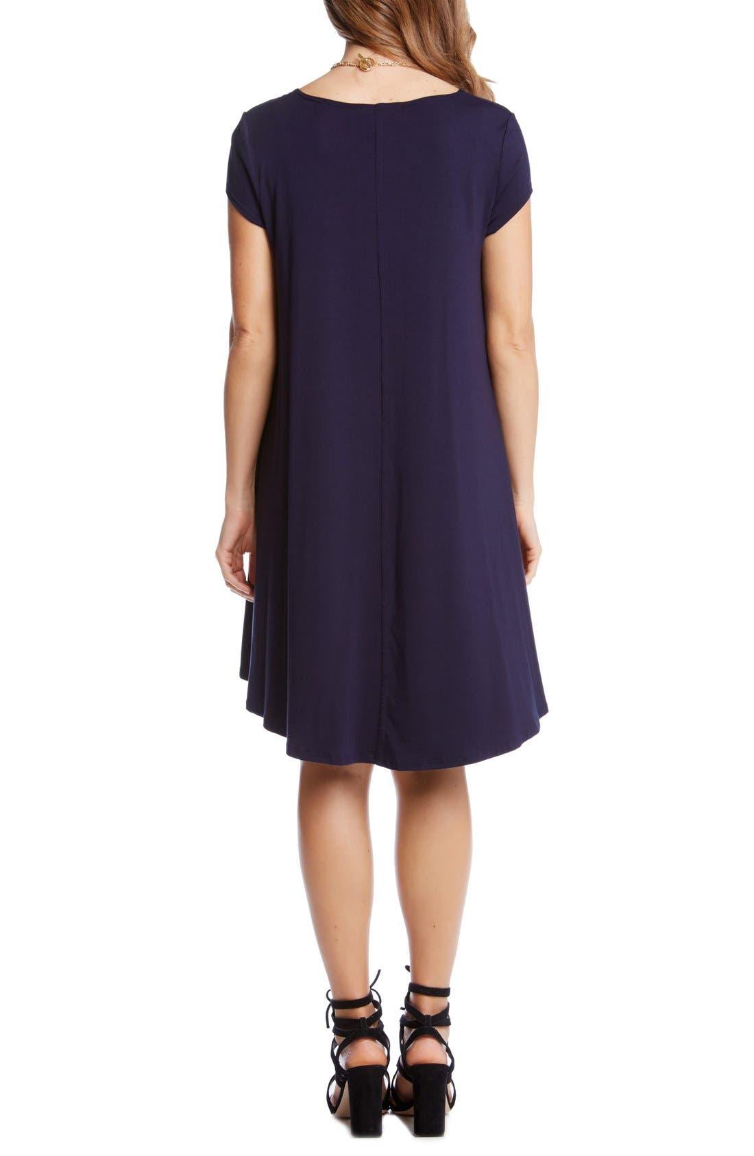 ,                             'Maggie' Cap Sleeve Trapeze Dress,                             Alternate thumbnail 18, color,                             410