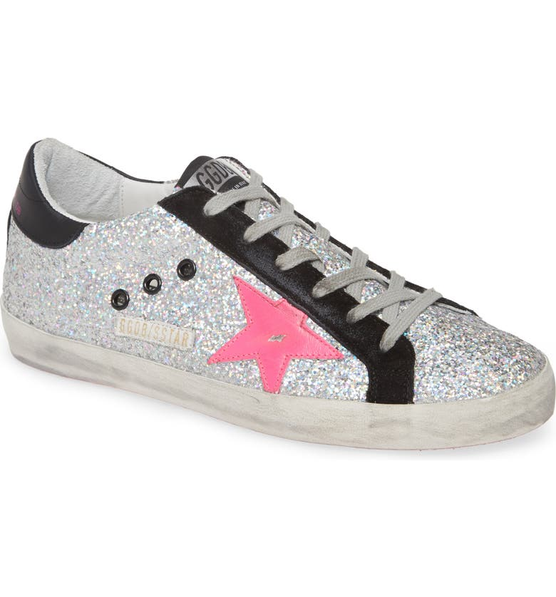 GOLDEN GOOSE Superstar Glitter Sneaker, Main, color, 101