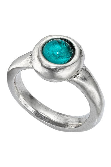 Image of Uno De 50 Silver Plated Murano Crystal Ego Ring