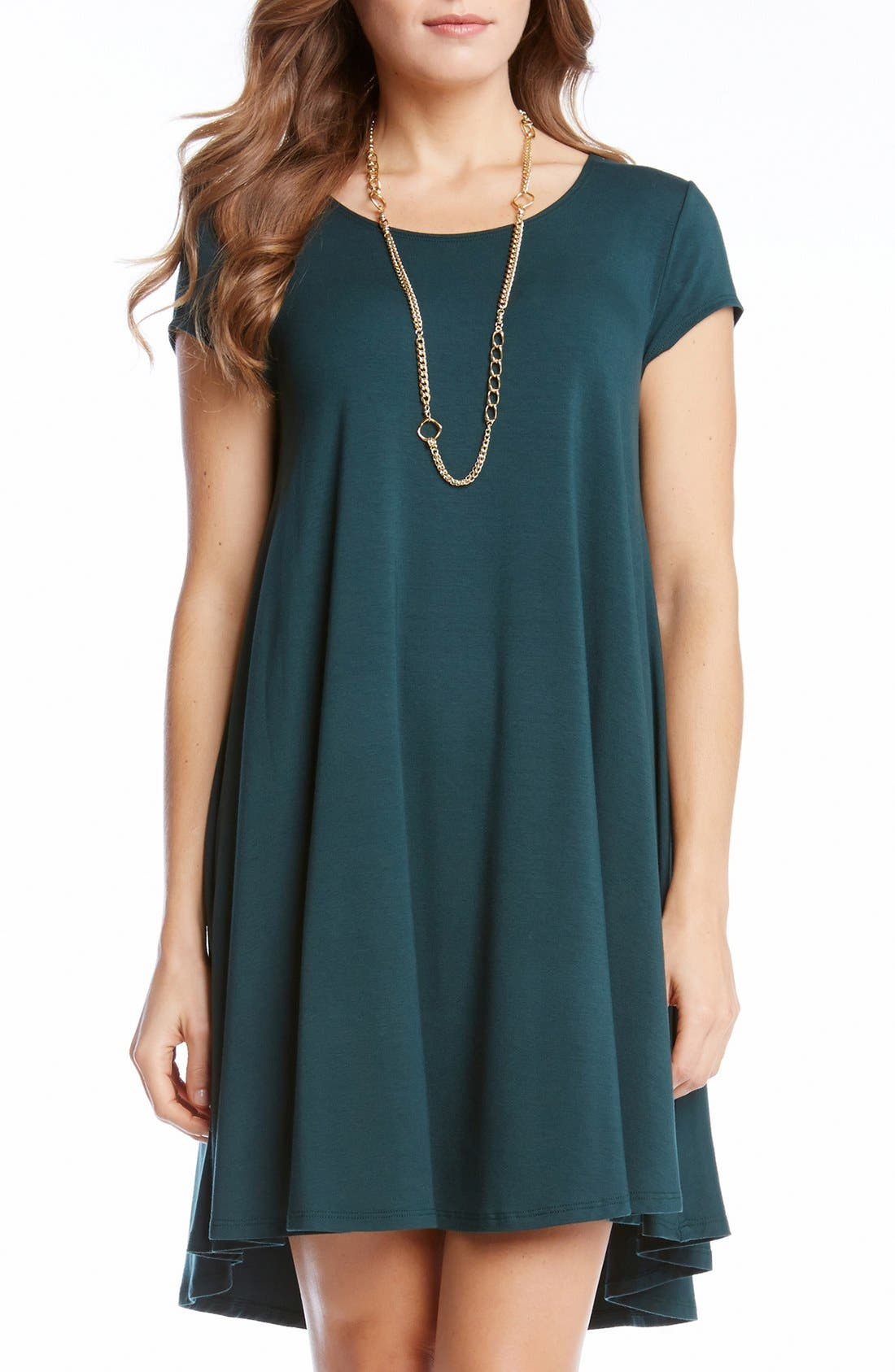 ,                             'Maggie' Cap Sleeve Trapeze Dress,                             Main thumbnail 10, color,                             305