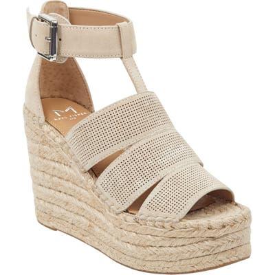 Marc Fisher Ltd Adore Platform Wedge Sandal, Beige