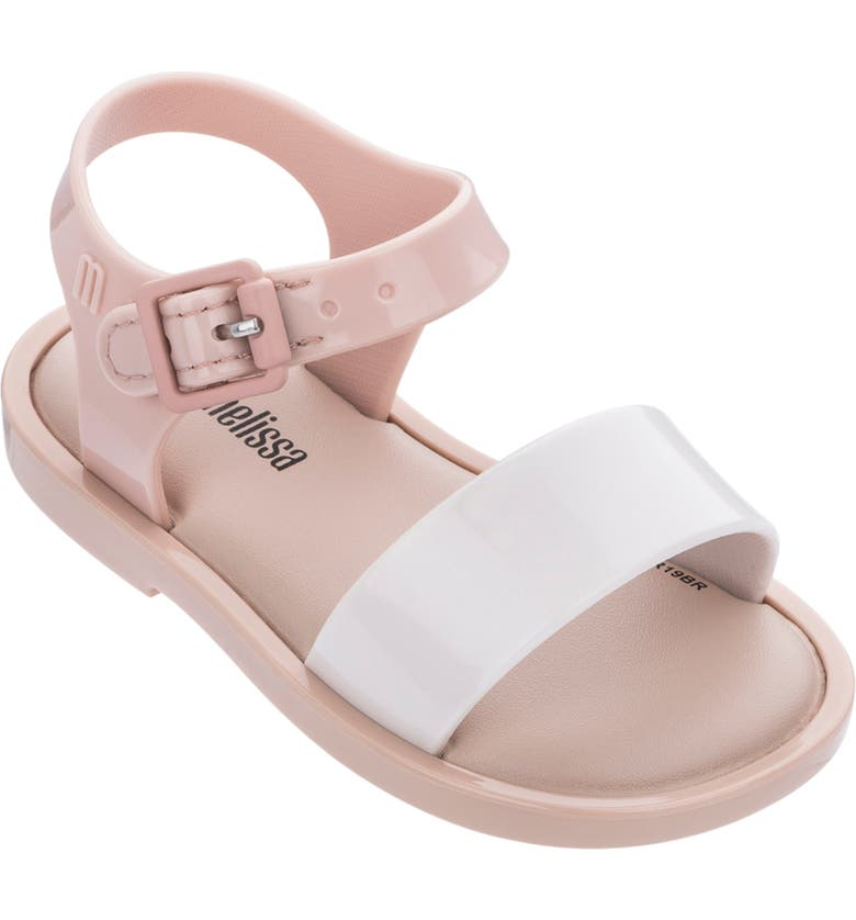 MINI MELISSA Mar Glitter Jelly Sandal, Main, color, NUDE SOFT PINK
