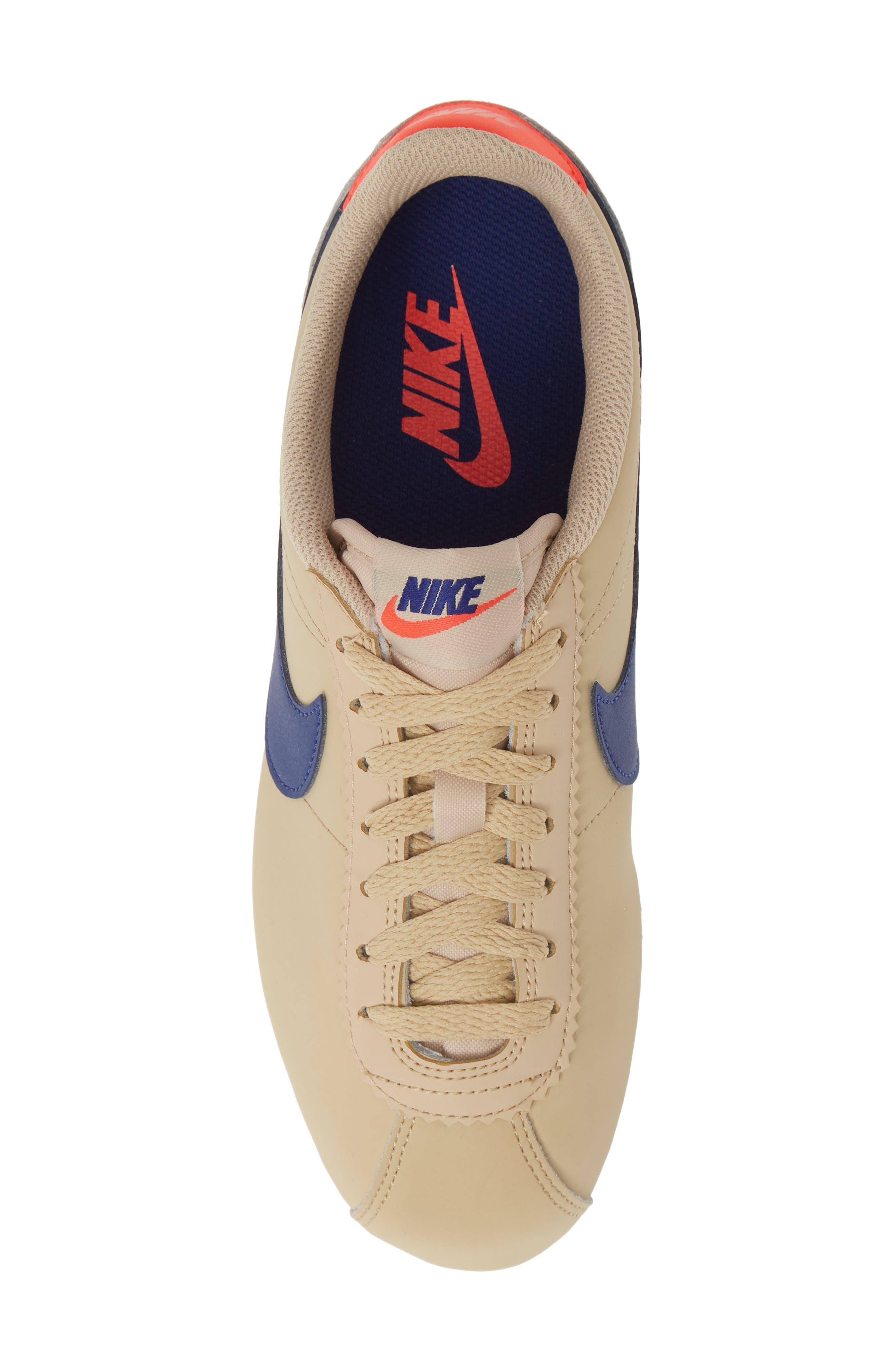 ,                             Classic Cortez Sneaker,                             Alternate thumbnail 5, color,                             DESERT ORE/ DEEP ROYAL BLUE