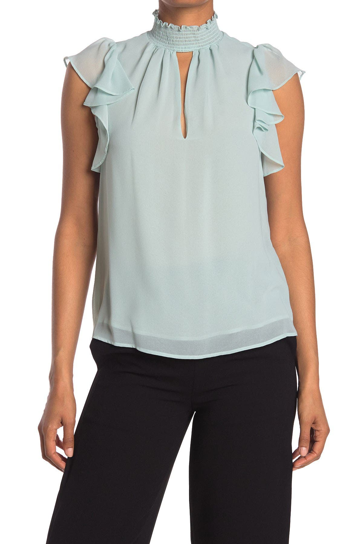 Image of 1.State Smocked Neck Top