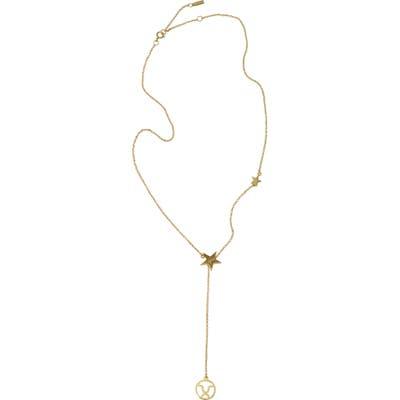 Adornia Taurus Zodiac Lariat Necklace