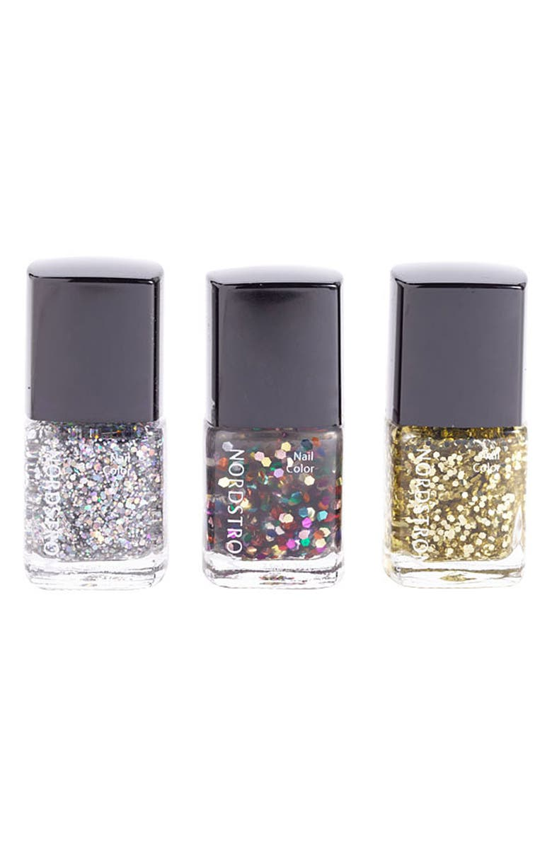 NORDSTROM 'Glitter' Mini Nail Lacquer Trio, Main, color, 960