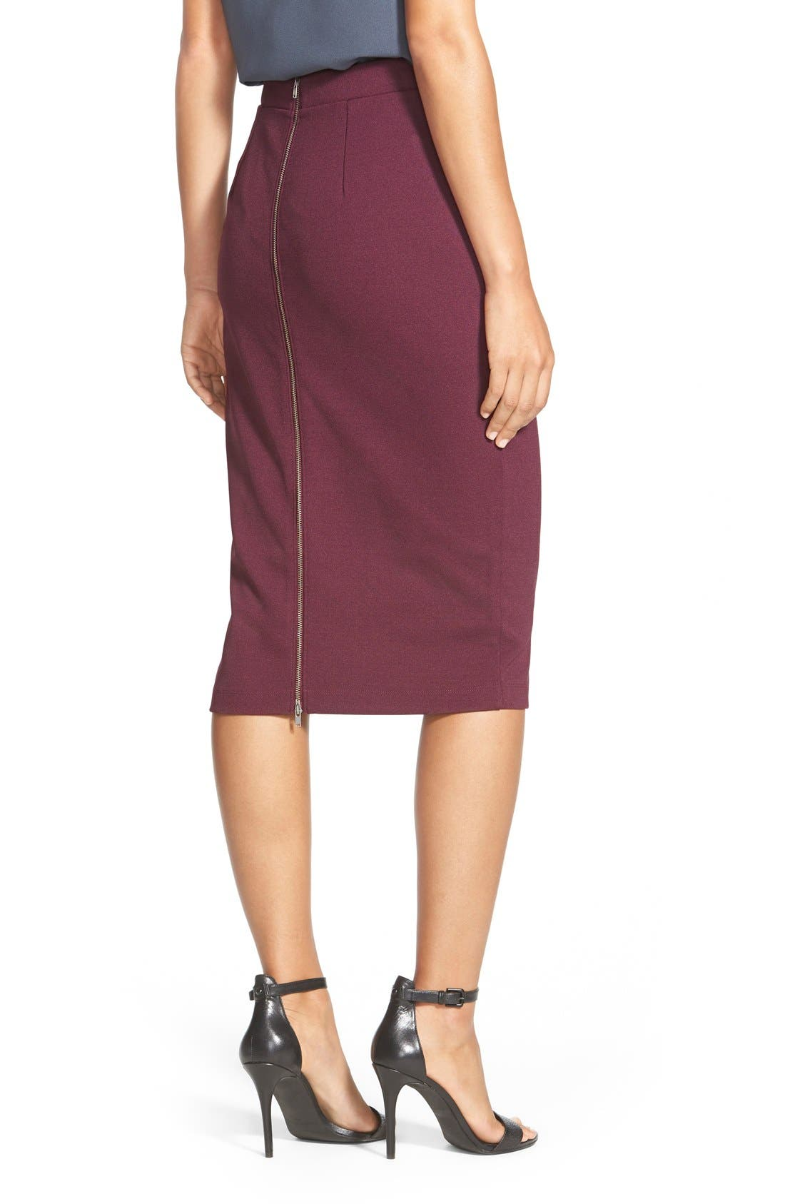 ,                             Zip Back Knit Pencil Skirt,                             Alternate thumbnail 23, color,                             930