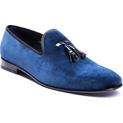 Jared Lang Luca Tassel Loafer, Blue