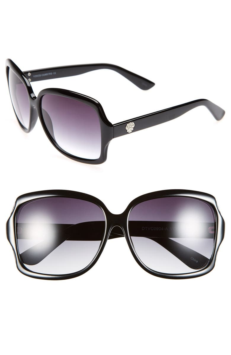 VINCE CAMUTO 61mm Square Sunglasses, Main, color, 001