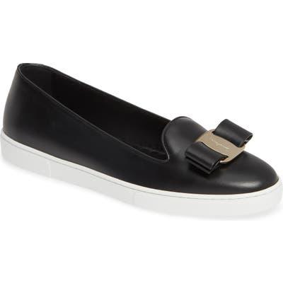 Salvatore Ferragomo Novello Bow Sneaker - Black