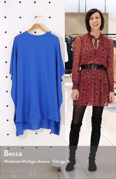 Draped Silk Georgette Dress, sales video thumbnail