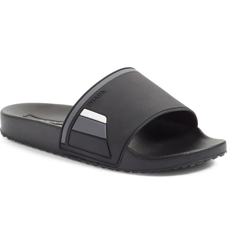 PRADA LINEA ROSSA Sport Sandal, Main, color, 001