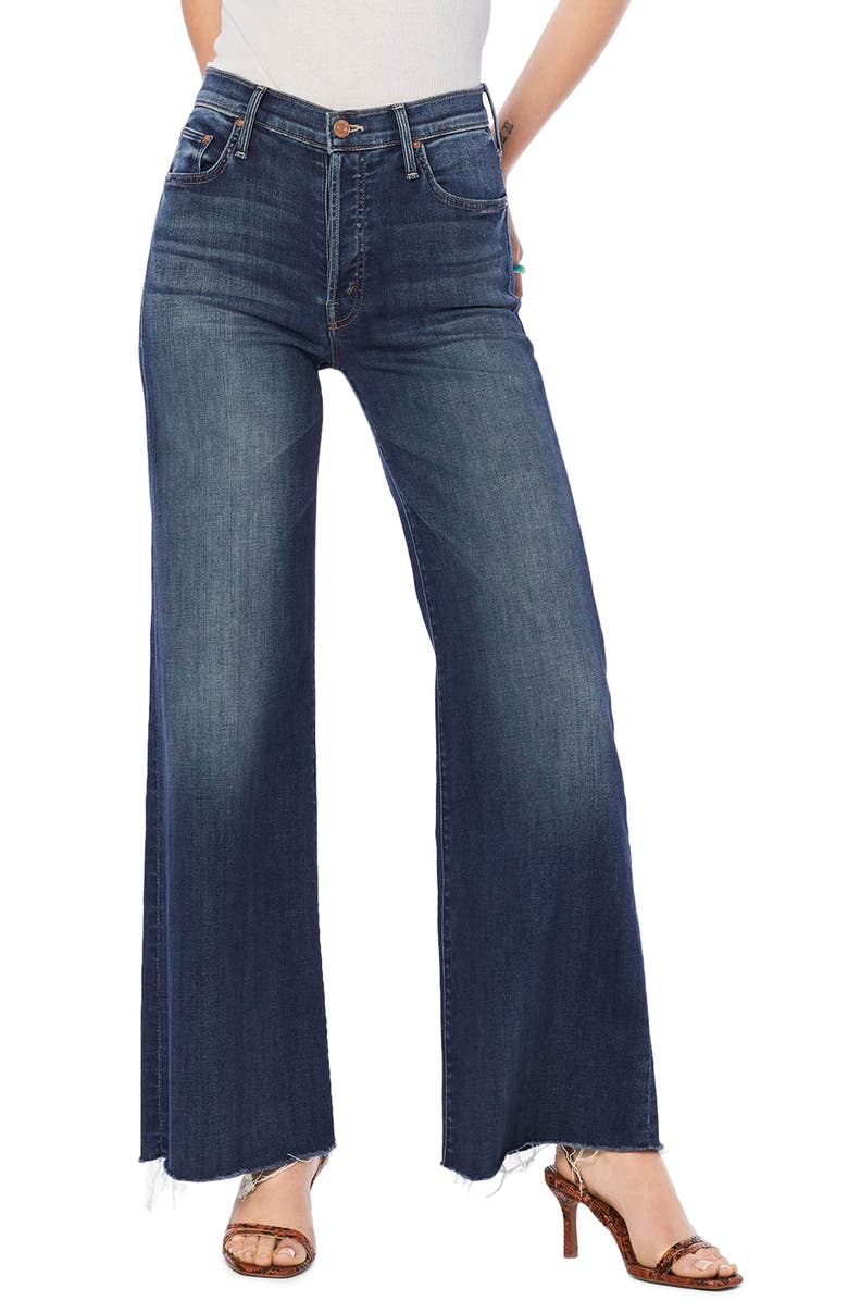 MOTHER The Tomcat Roller High Waist Fray Wide Leg Jeans, Main, color, 401