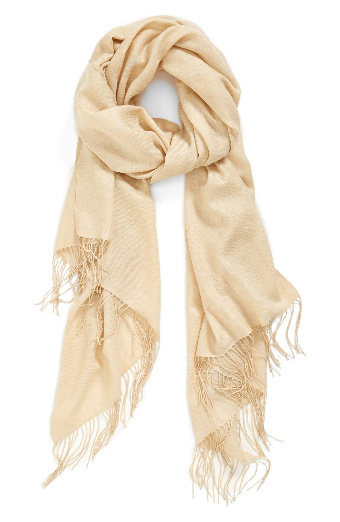 ,                             Tissue Weight Wool & Cashmere Wrap,                             Main thumbnail 40, color,                             254