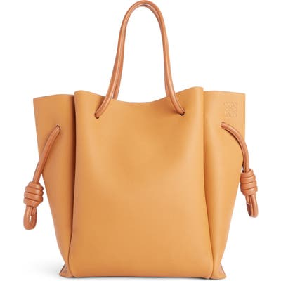 Loewe Flamenco Knot Leather Tote - Beige