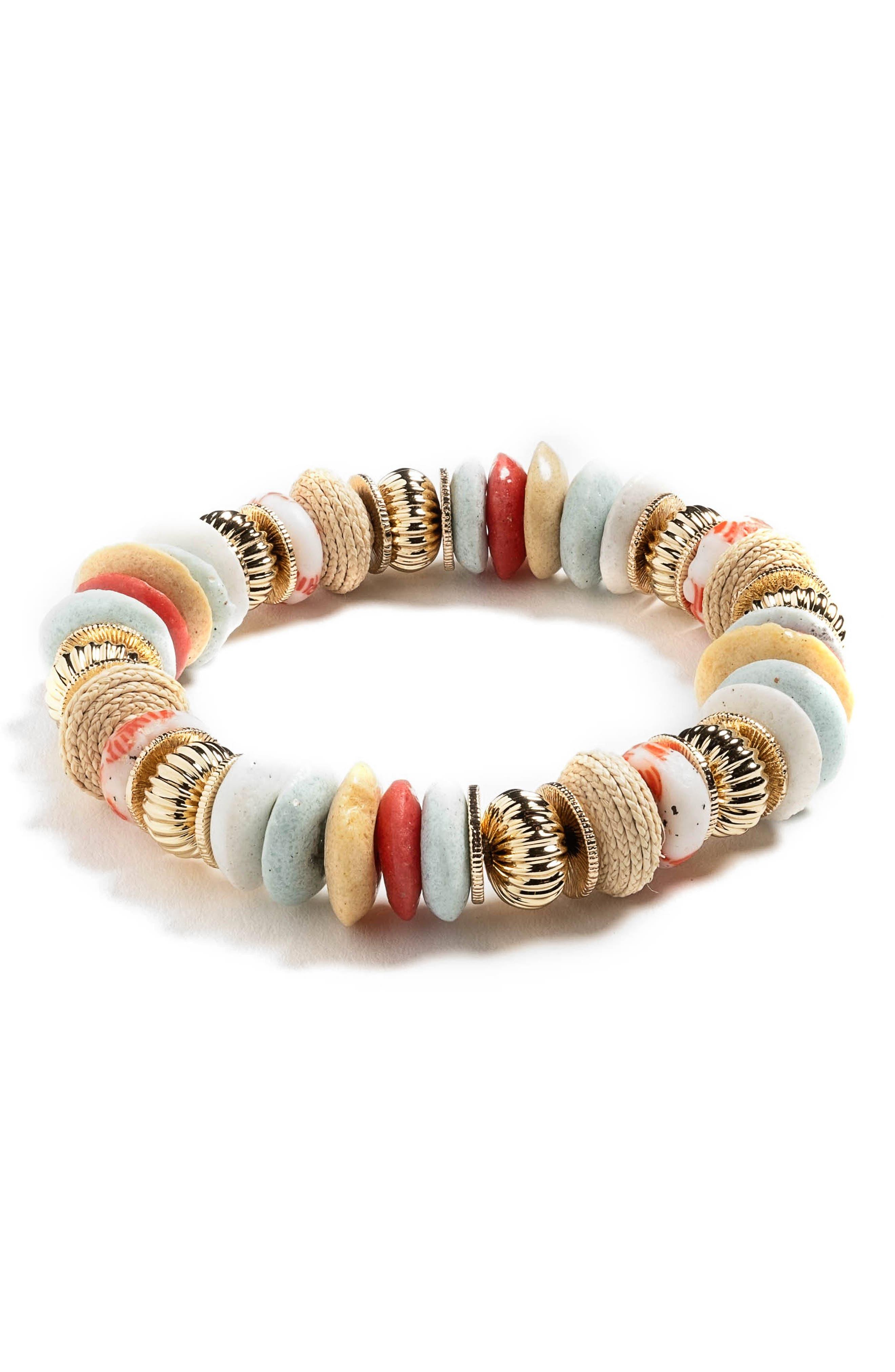 Lucia Beaded Stretch Bracelet