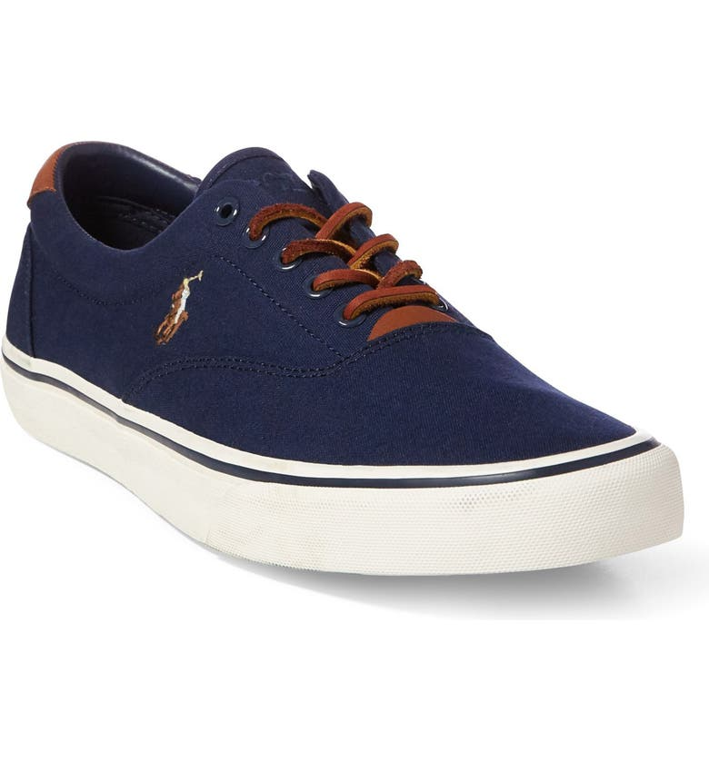 POLO RALPH LAUREN Thorton Low Top Sneaker, Main, color, NAVY CANVAS
