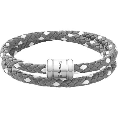 Miansai Braided Leather Wrap Bracelet