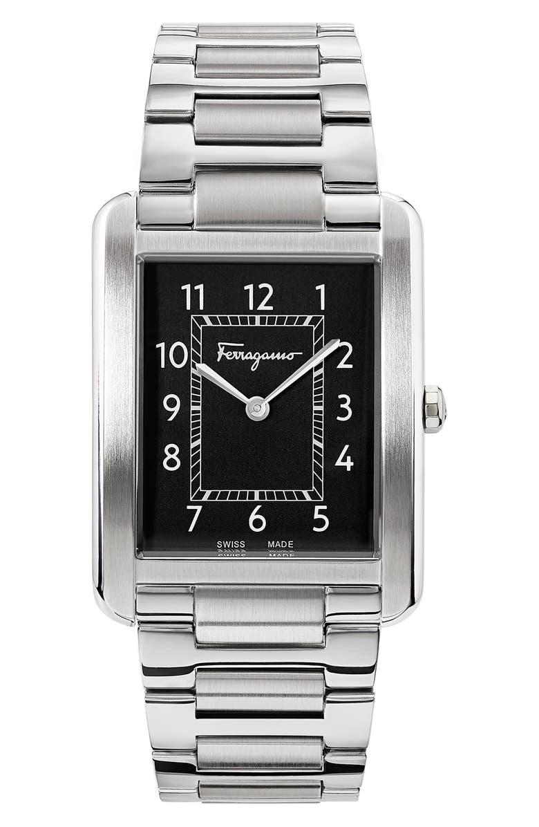 SALVATORE FERRAGAMO Portrait Bracelet Watch, 31mm x 41mm, Main, color, 040