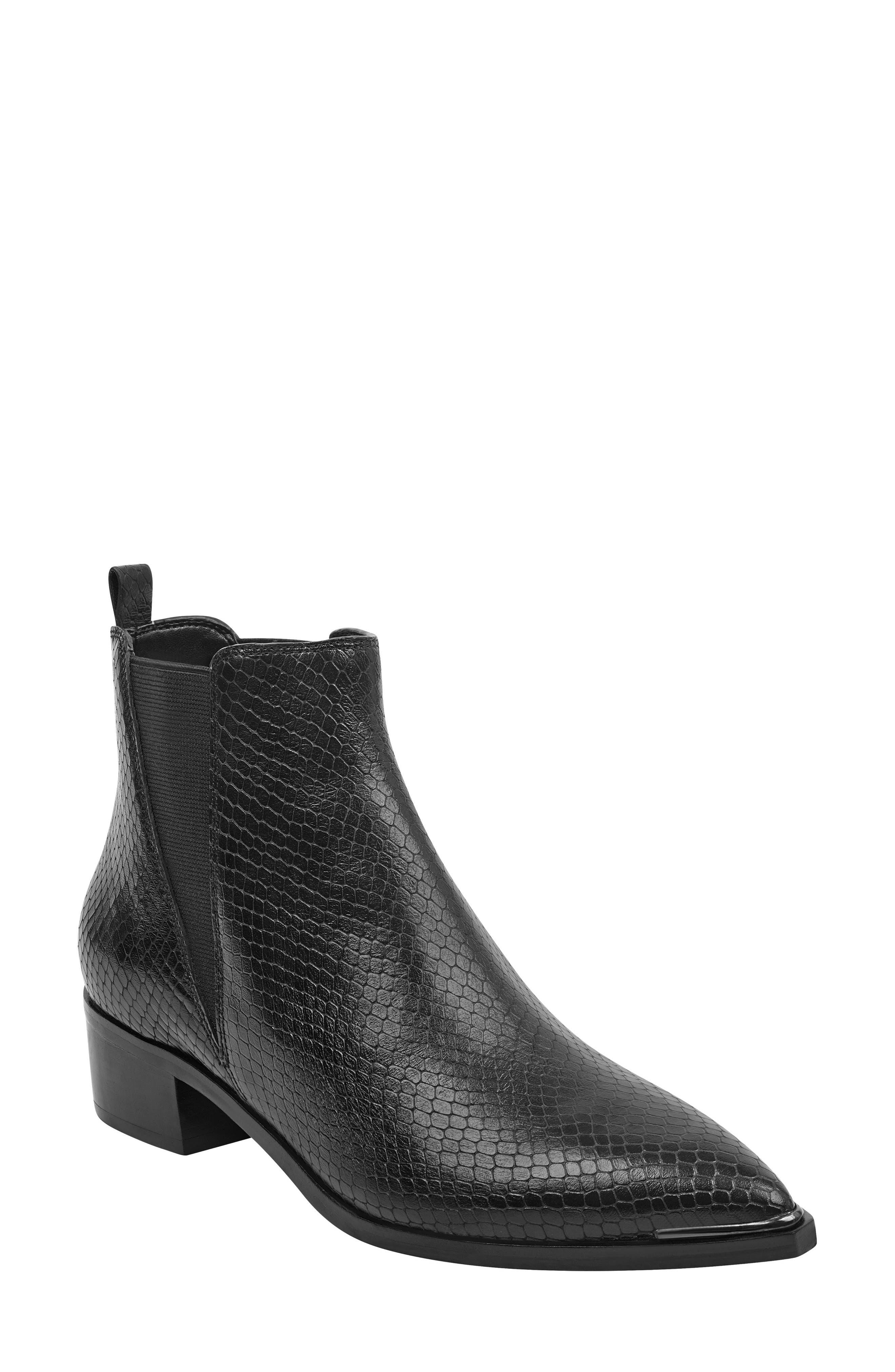 'Yale' Chelsea Boot, Main, color, BLACK SNAKE