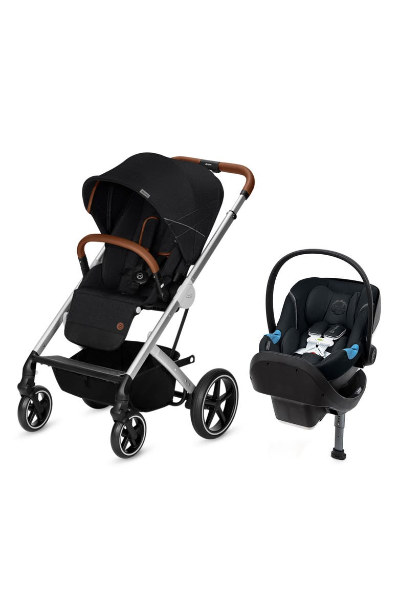 CYBEX Balios S Stroller & Anton M Car Seat Travel System, Main, color, DENIM BLACK