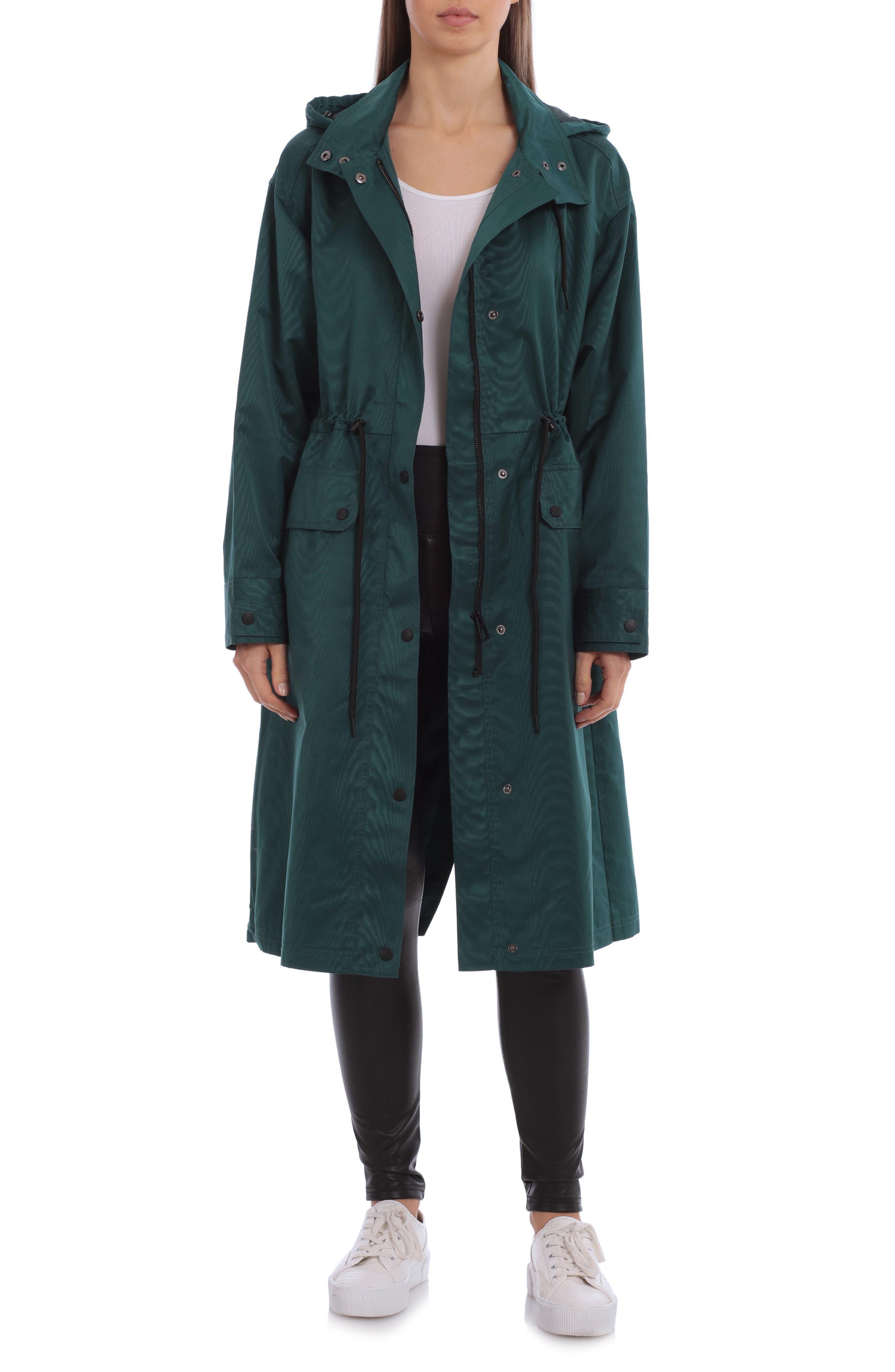 Oversize Hooded Raincoat