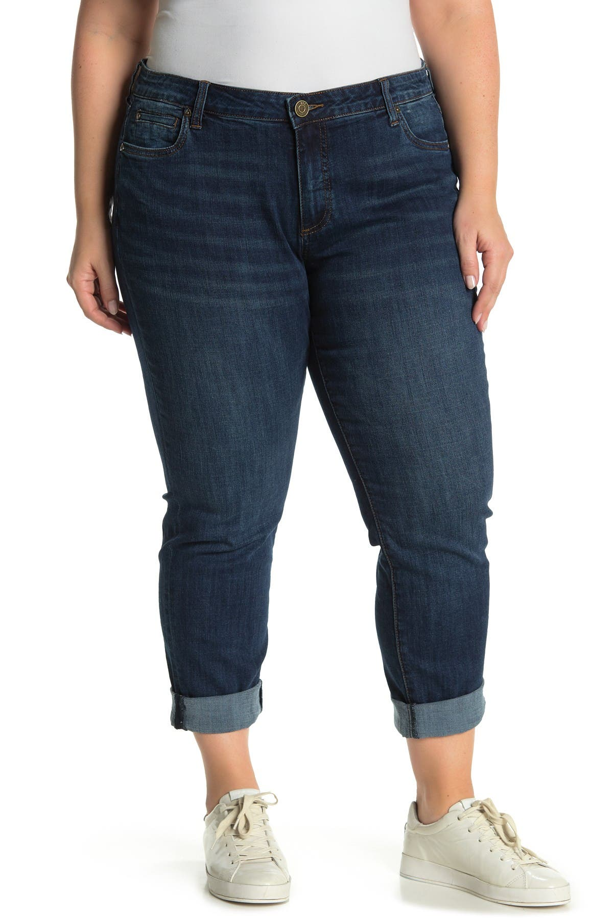 Image of KUT from the Kloth Katy Rolled Hem Boyfriend Jeans