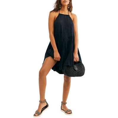 Free People Catching Rays Halter Dress, Black