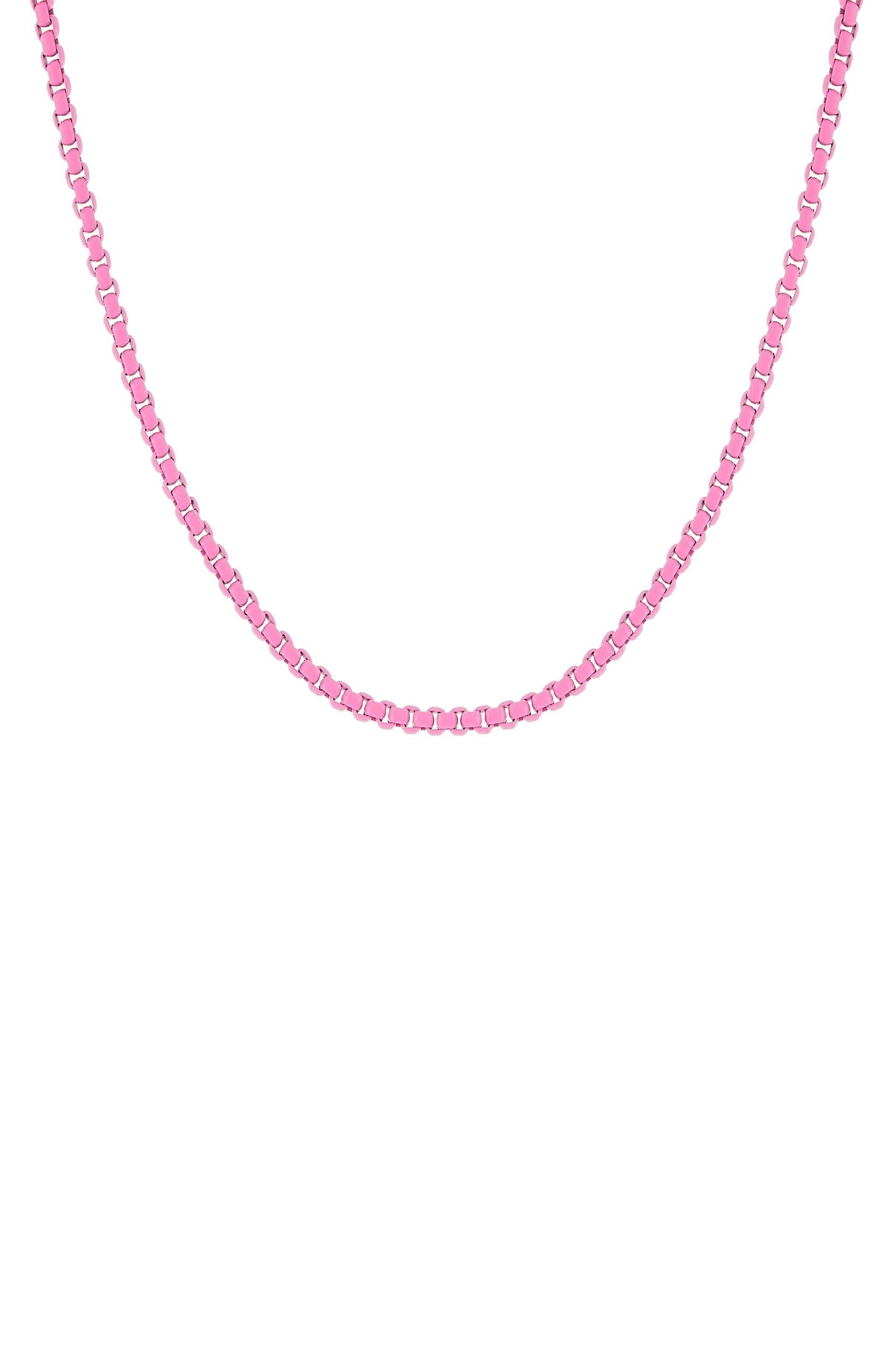 Women's Adina's Jewels Enamel Rope Chain Necklace