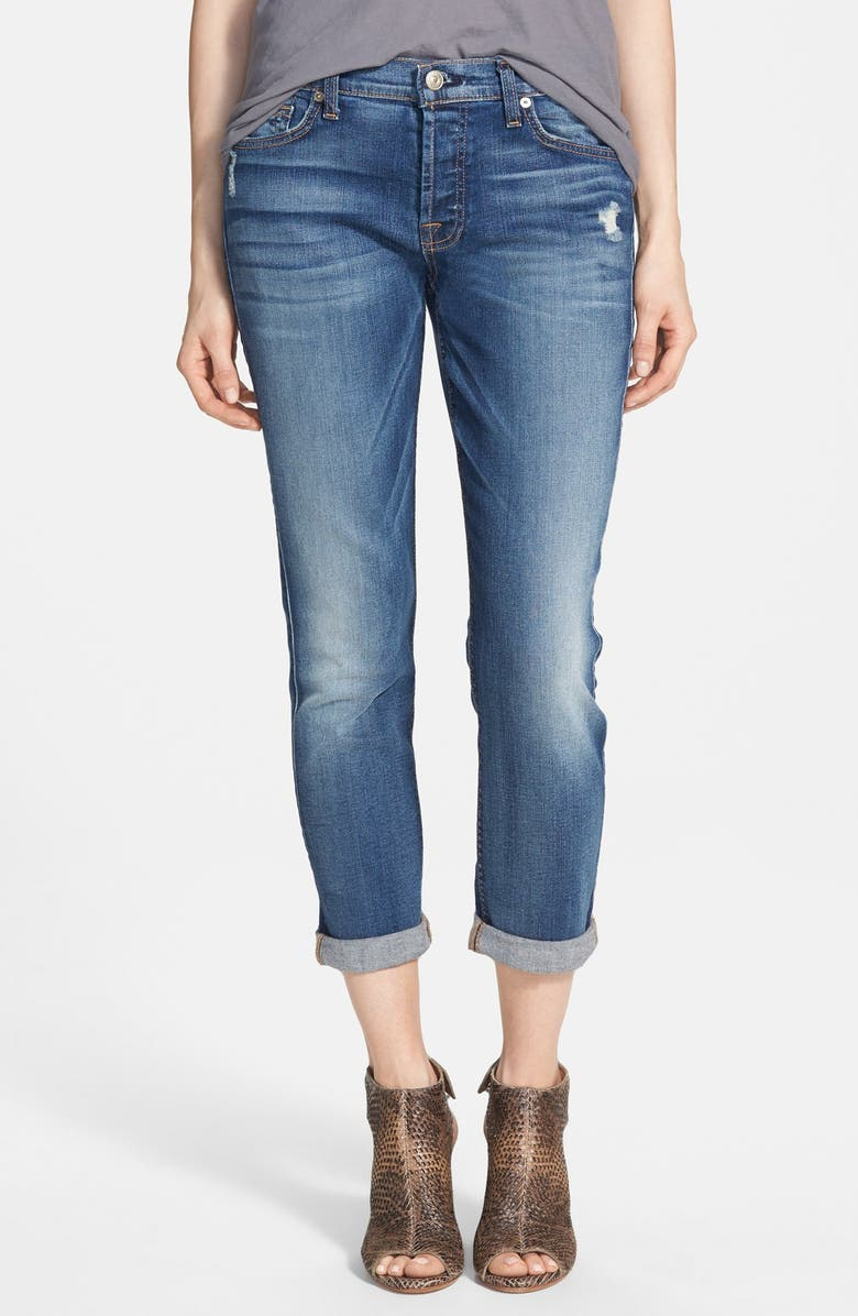 7 FOR ALL MANKIND<SUP>®</SUP> 'Josefina' Mid Rise Boyfriend Jeans, Main, color, 400