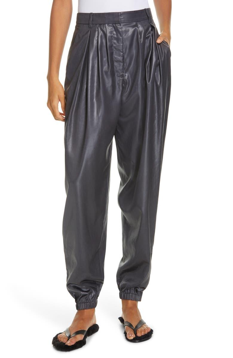 TIBI Liquid Drape Pleated Pants, Main, color, PEARL BLACK