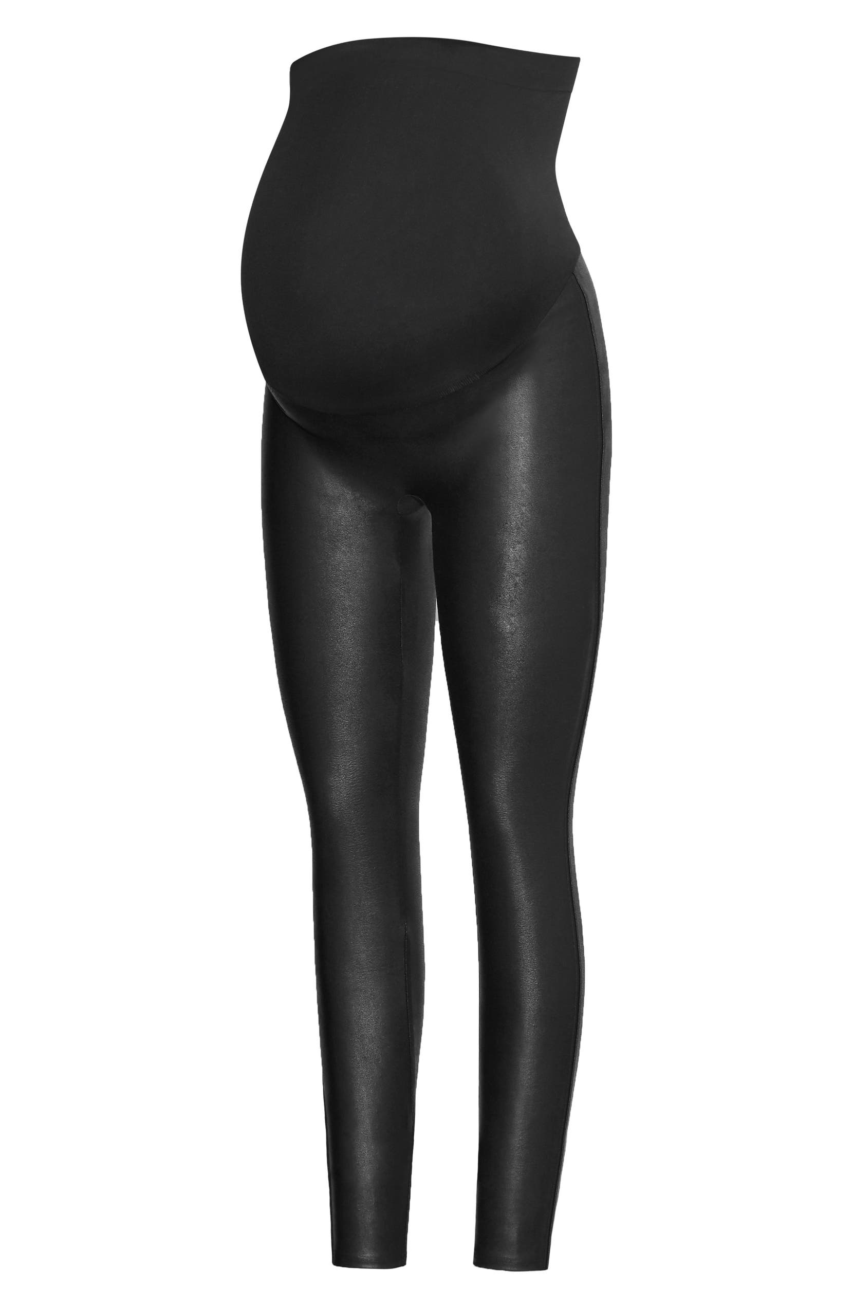 e76fca24c40 SPANX® Mama Faux Leather Maternity Leggings