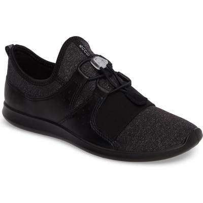 Ecco Sense Toggle Sneaker, Black
