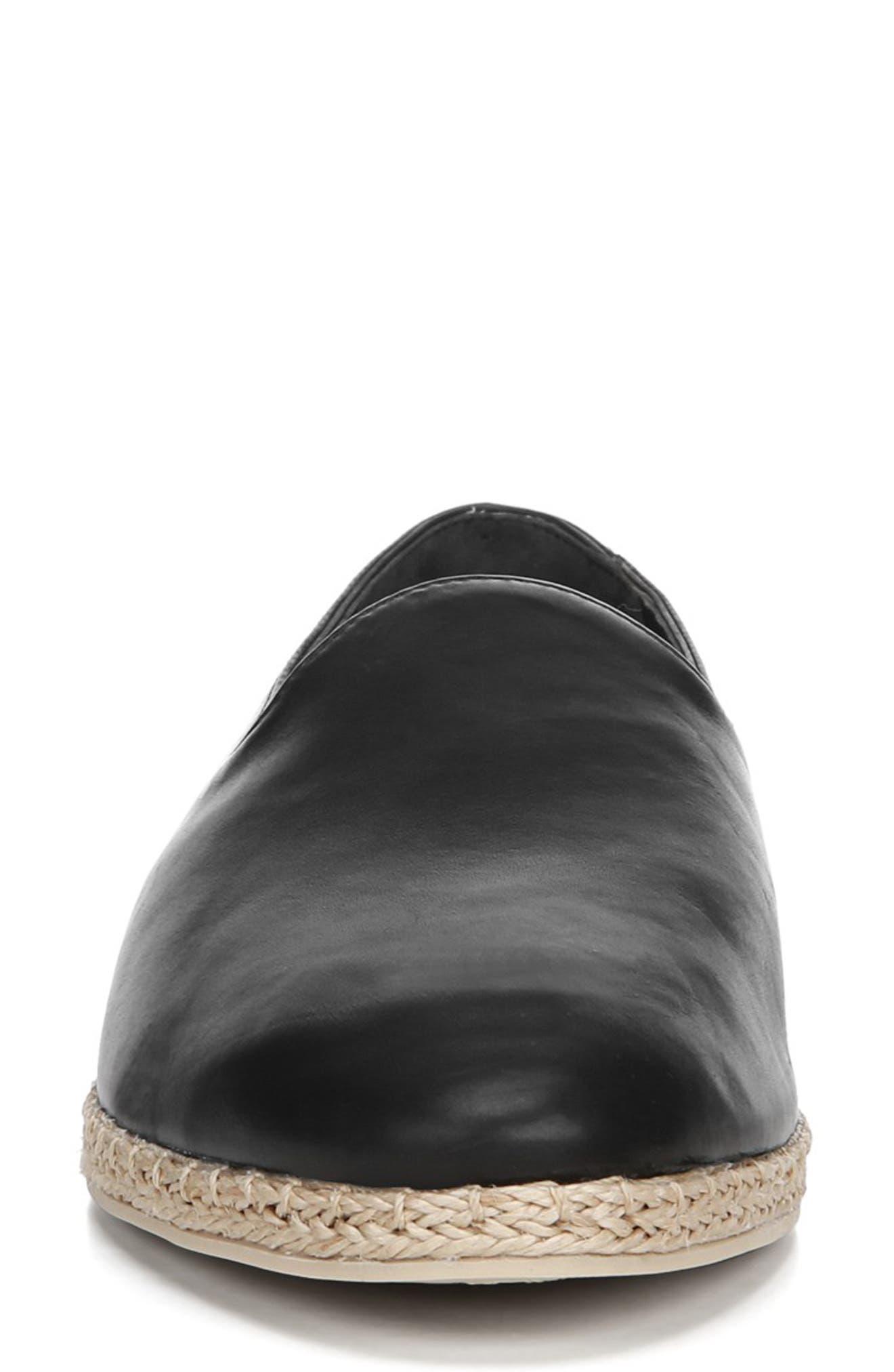 ,                             Malia Loafer Flat,                             Alternate thumbnail 4, color,                             BLACK LEATHER