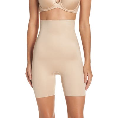 Spanx Power Conceal-Her High Waist Mid-Thigh Shaping Shorts, Beige